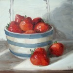 Strawberries in cornishware