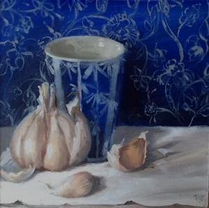 Garlic, cup and blockprint