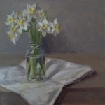 Jonquils in a caper jar