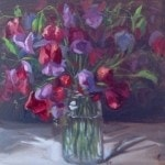 1414 - Sweetpeas in a jam jar