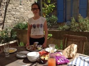 Breakfast on our return