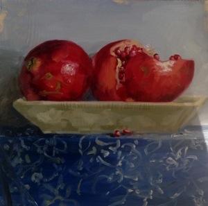 Pomegranates on blockprint