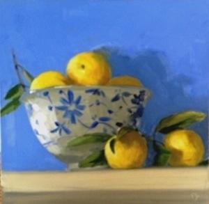 Lemons in rice bowl