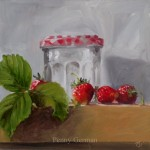 1602 strawberries and jar