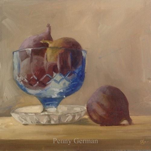 1617 - Figs in a dessert bowl