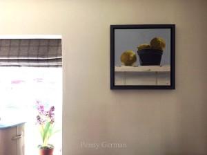 Tray frame with 'Lemons on dresser'