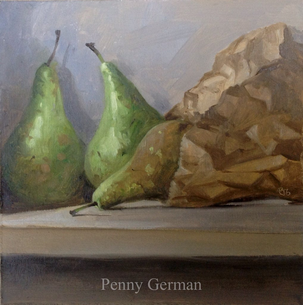 1647 pears and bag