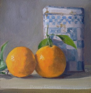 1676 oranges and coffee tin