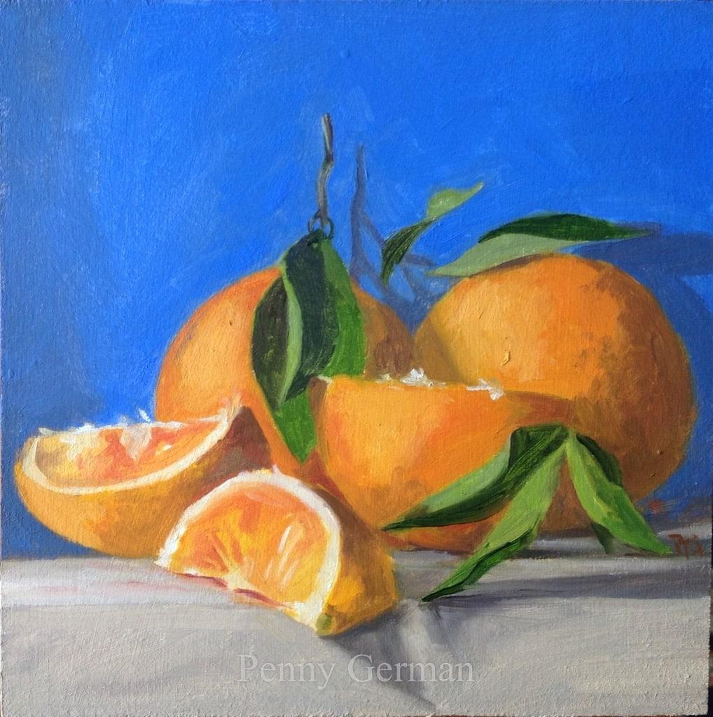 1677 oranges and blue