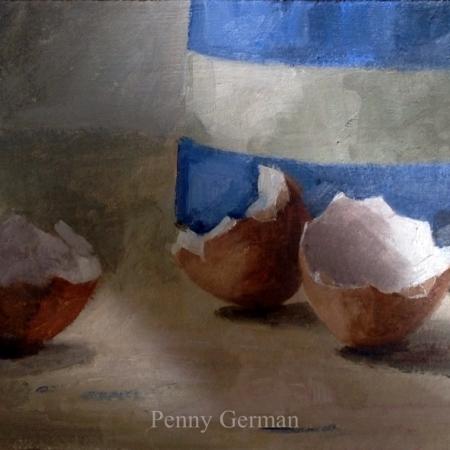 1721 cornishware and eggshells