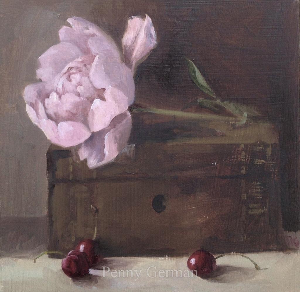 1725 peony and cherries