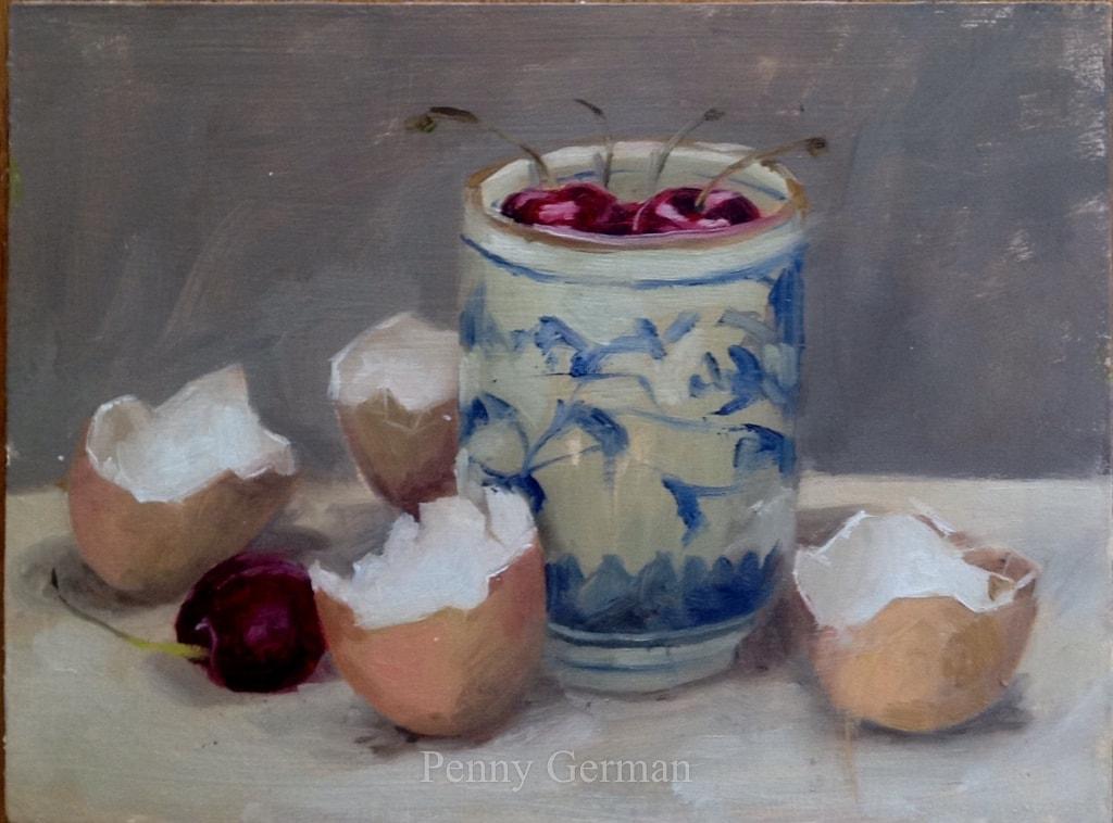 1738 cherries and eggshells
