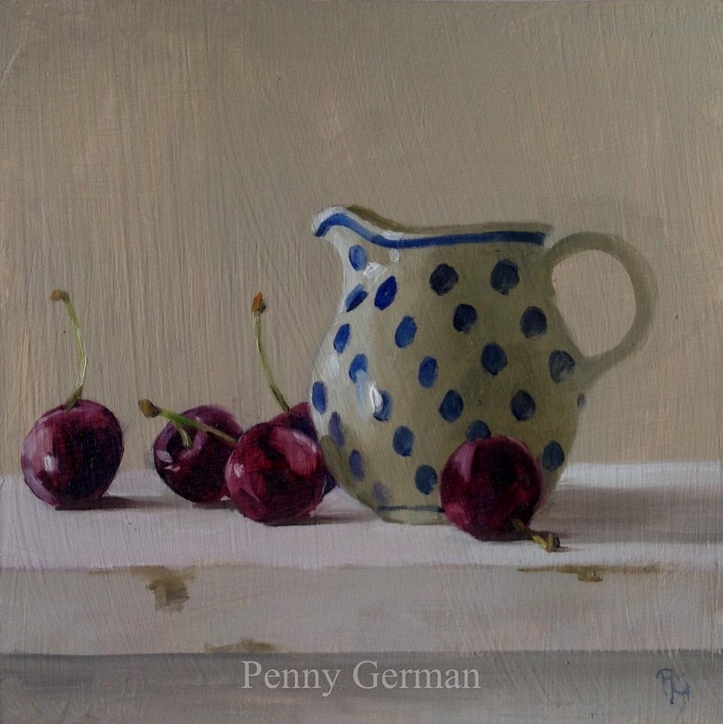 1747 Cherries and jug