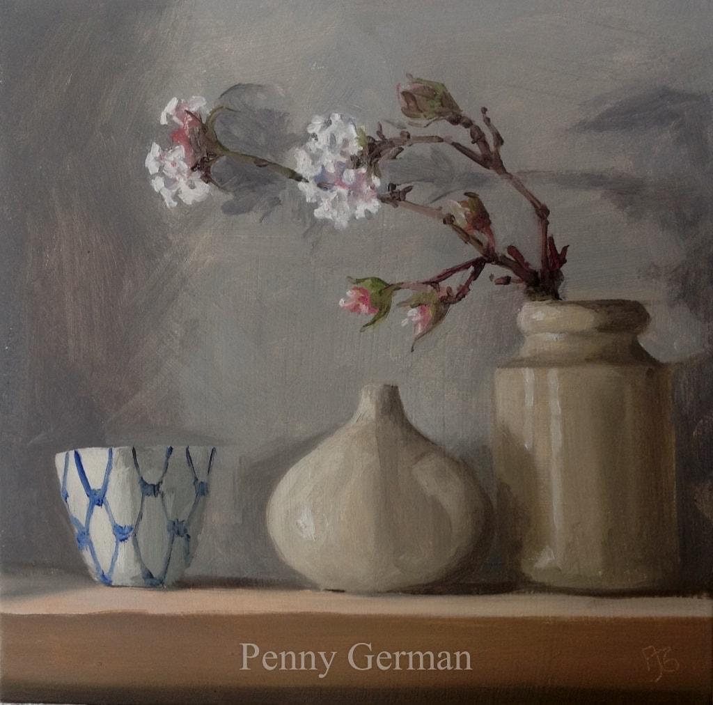 1766 viburnum and teardrop vase