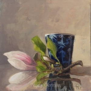 1801 magnolia and sake cup