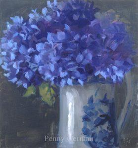 1830 blue hydrangeas