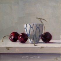 Cherries and little pot