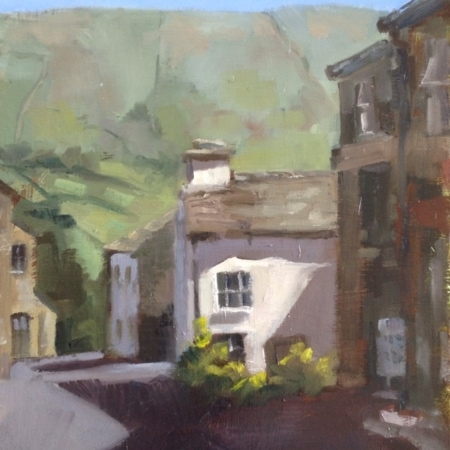 aye gill pike, dent, yorkshire dales, plein-air, landscape, oil painting