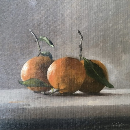#clementines, oil painting, still life, daily painting