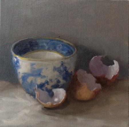 9413 tea bowl and eggshells